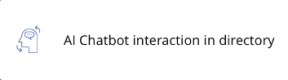 AI Chatbot interaction in directory