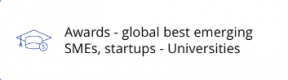 Awards - global best emerging SMEs, startups - Universities
